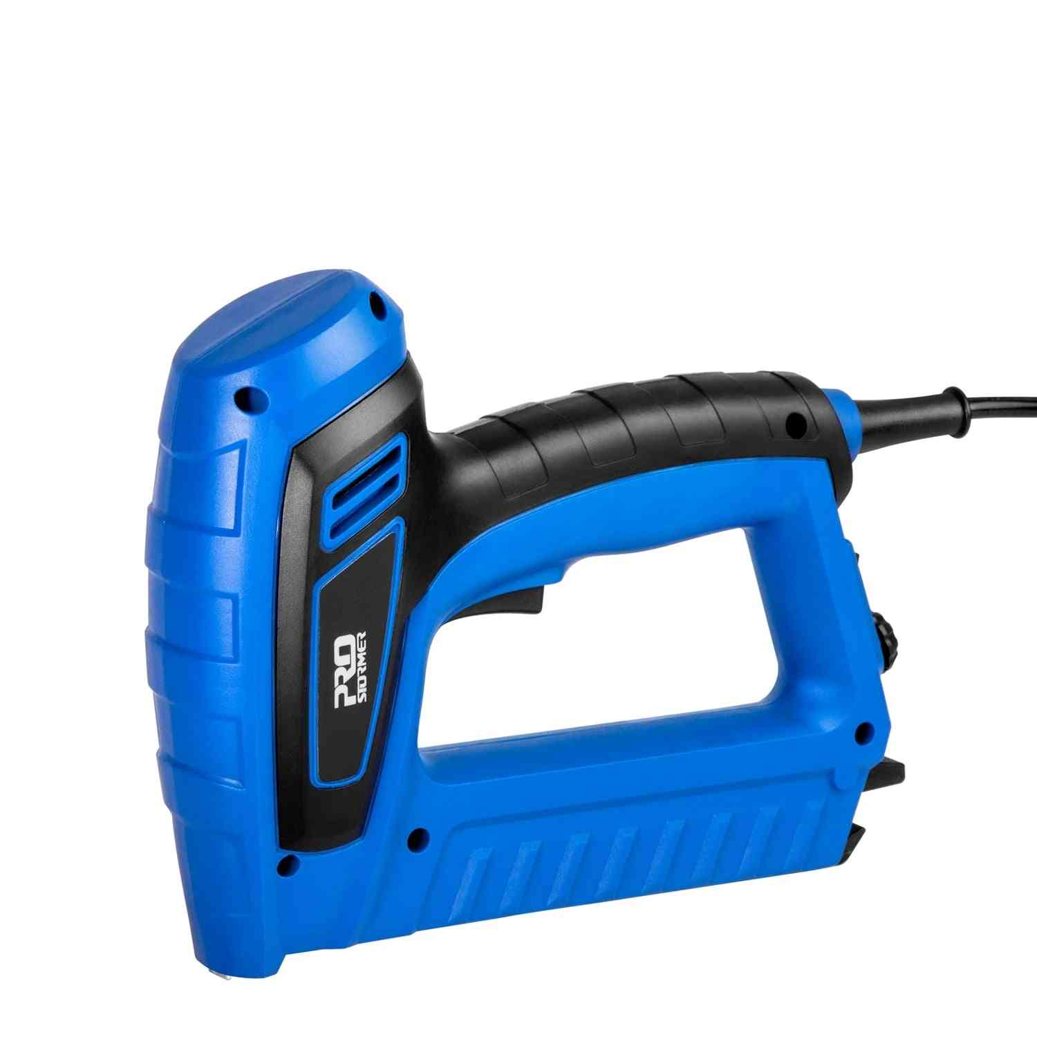 Electric Staple Gun, Power Adjustable Nail Furniture Woodworking Upholstery Tools