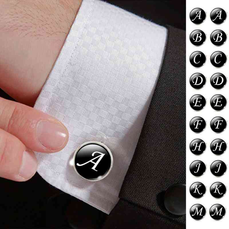 A-z Single Alphabet Cuff Button For Male Shirts