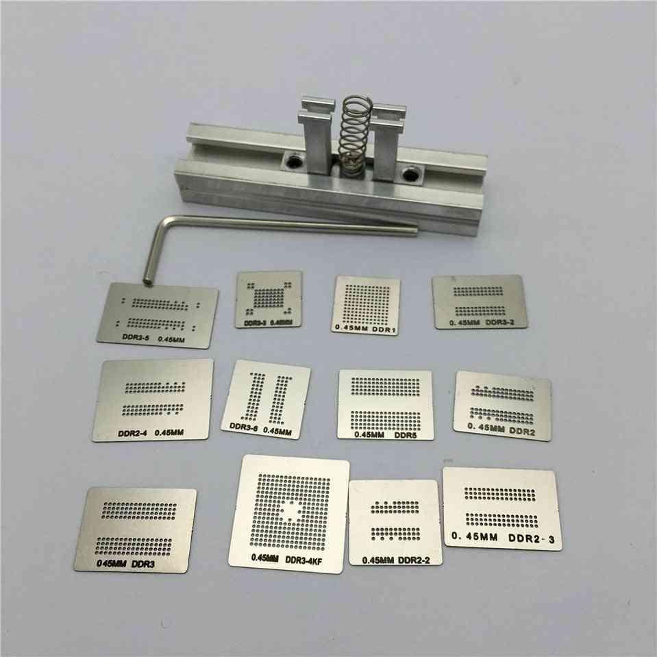 Directly Heat Rework, Reballing Universal Stencil Template + Bga Kit Station