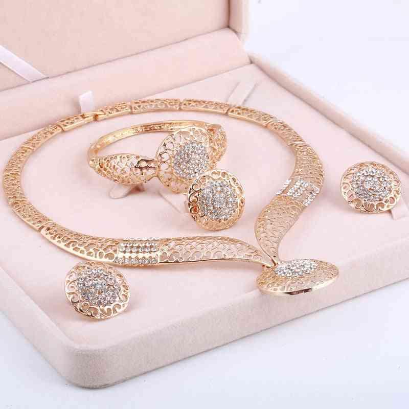Rhinestone Crystal Bridal Jewellery Set