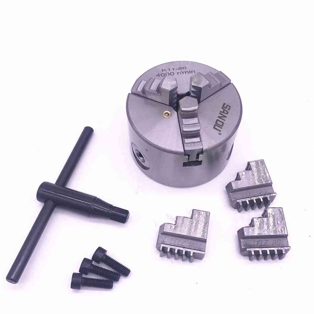 Chuck Self-centering With Wrench & Screws Hardened Steel