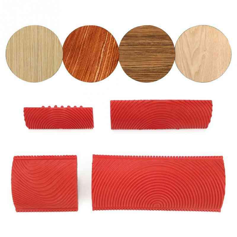 2pcs/set Imitation Wood Grain Brush Garden Paint Roller Set