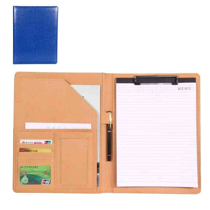 Multi-function A4 Document Pu Leather Business Folder