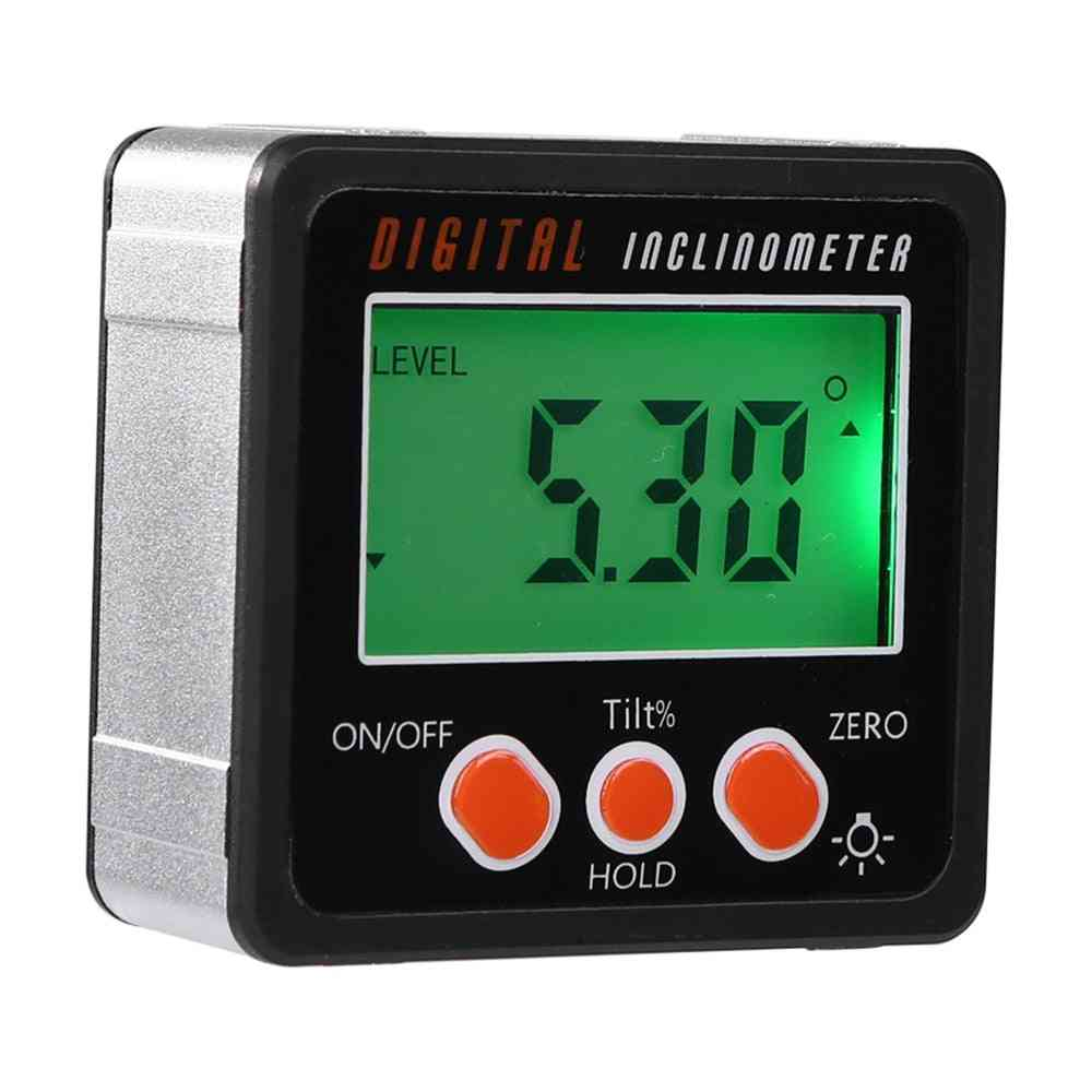 Electronic Protractor Inclinometer, Aluminum Alloy Digital Bevel Box