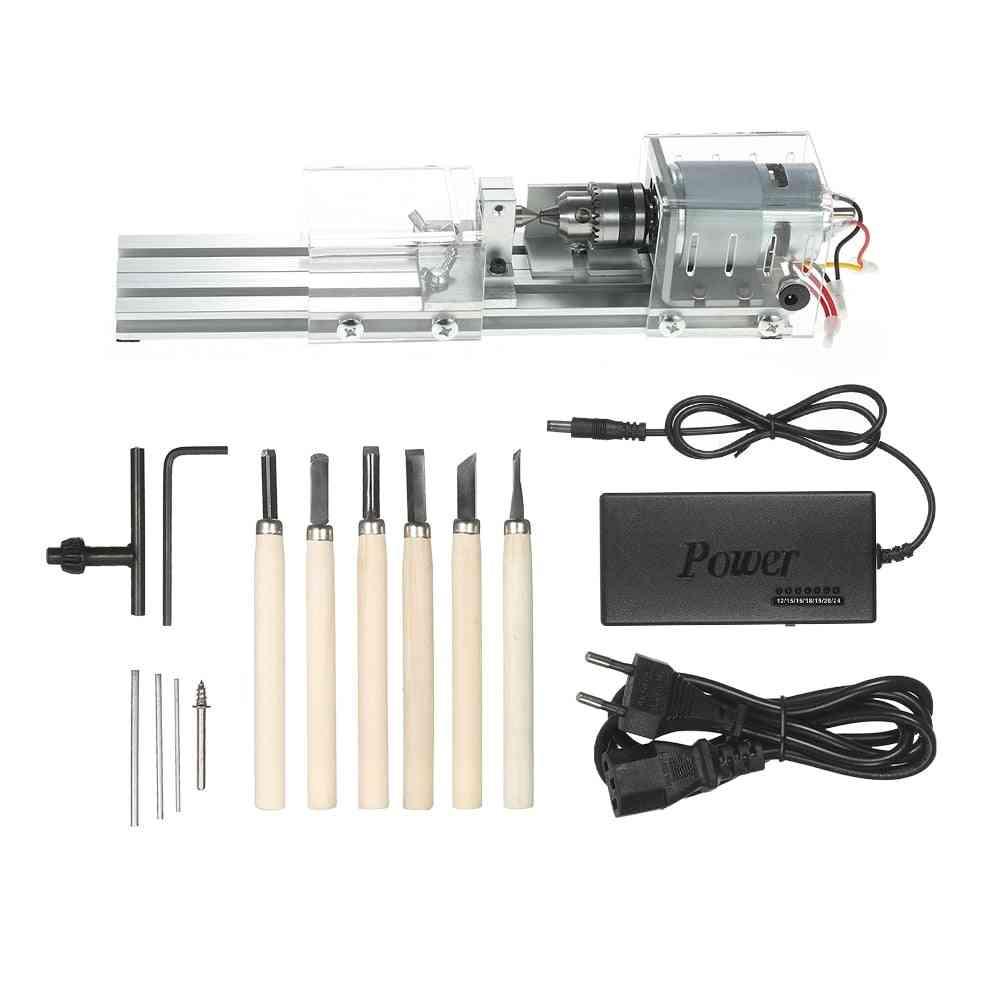 Mini Lathe Torno Milling Machine Woodworking Lathe-grinding Polishing Drill Tool