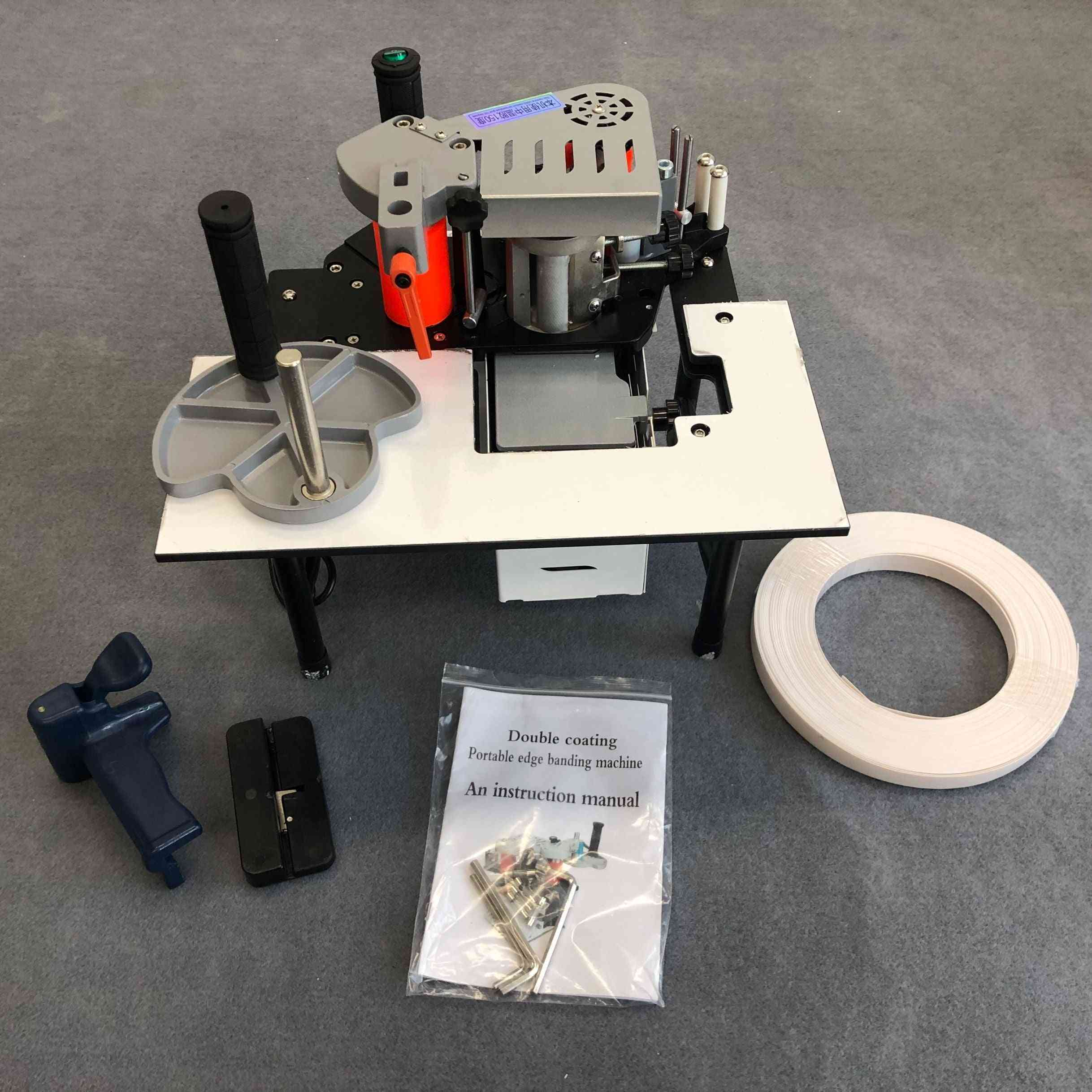 Double Side Gluing Portable Edge Woodworking Banding Machine