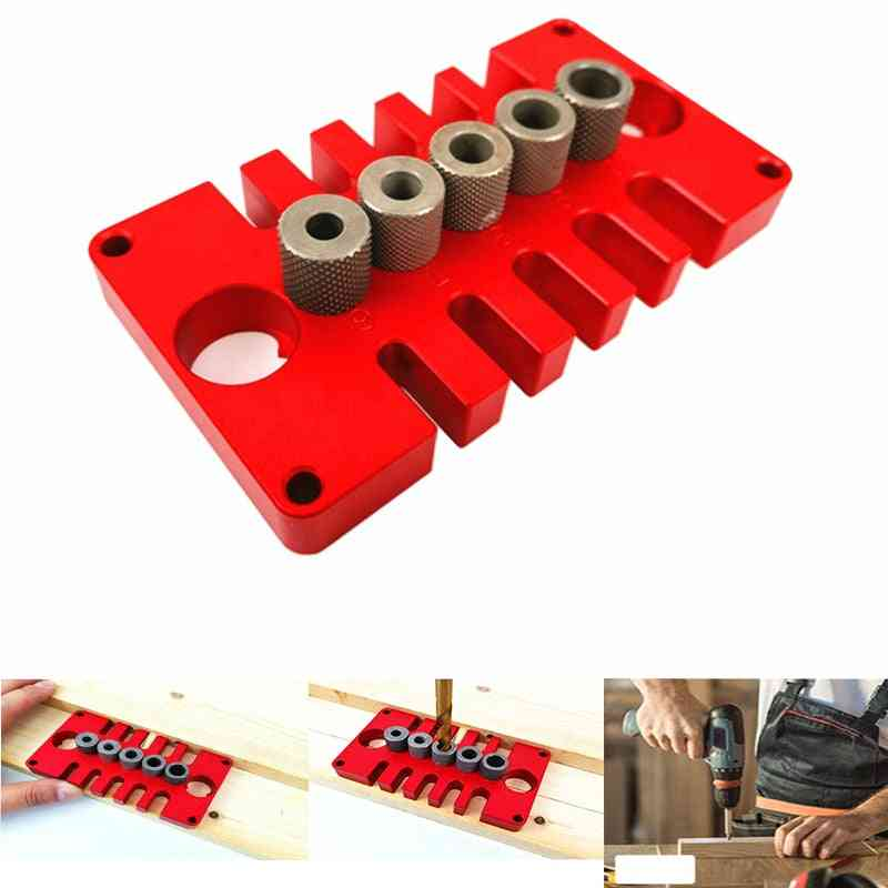 3 In 1 Punch Locator Opener Pocket Hole Tenon Hole Doweling Jig