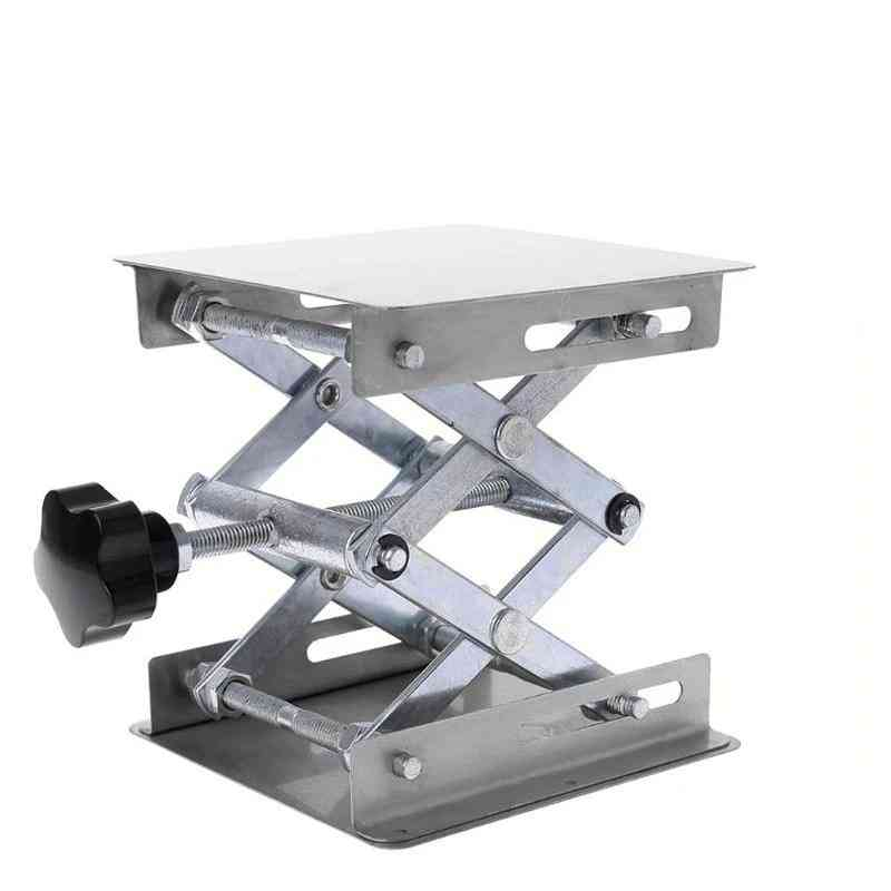 Stand Rack Scissor Jack Bench Lifter Table Lab Stainless Steel Lifting Platform