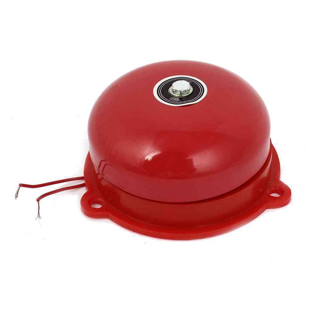 Ac 220v 100mm 4 Inch Dia Schools Fire Alarm Round Shape Electric Bell
