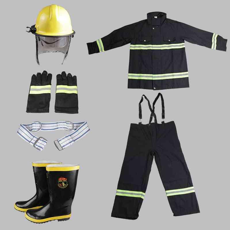 Flame-retardant High-temperature Fire Protective Gloves, Shoes, Helmet, Suit