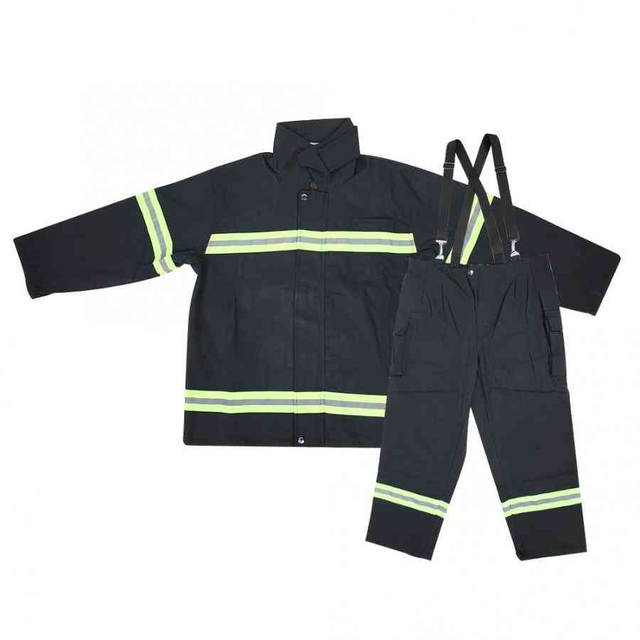 Flame Retardant Clothing Fireproof, Heatproof Firemen Protective Reflective Coat, Trousers