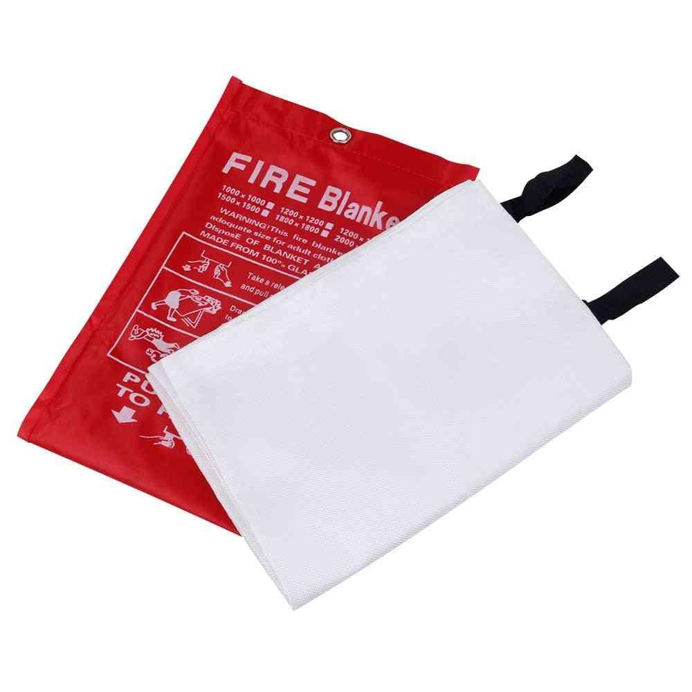 Fire Blanket Carpet Flame Retardant Glass, Fiber Safety Shield Emergency Survival