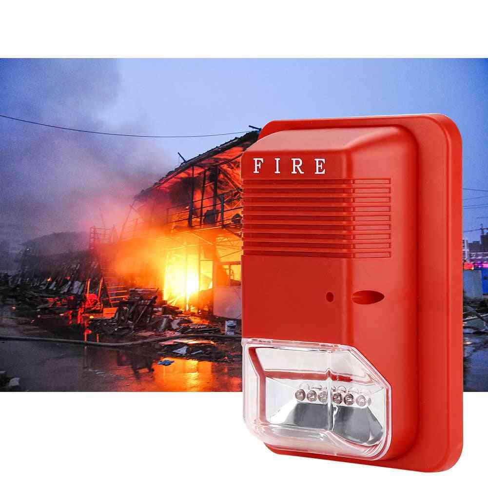 Sound & Light Fire Alarm, Warning Strobe Horn Alert Safety System