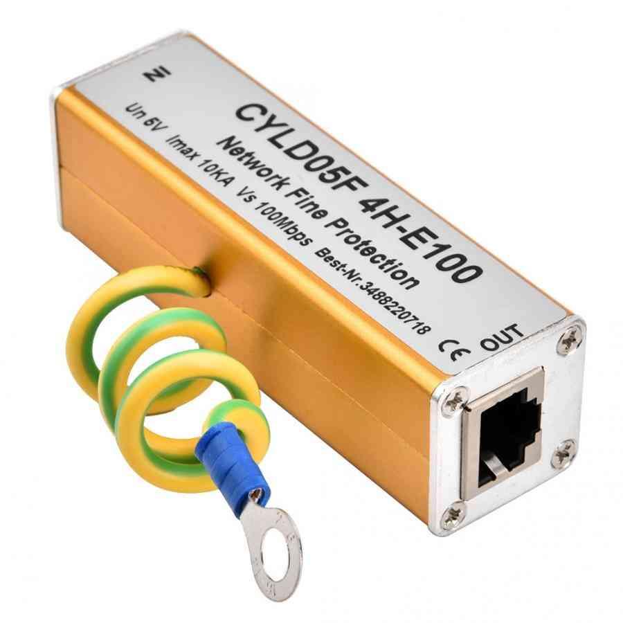 Adapter Ethernet Network Surge Protector Thunder Lighting Arrester Protection