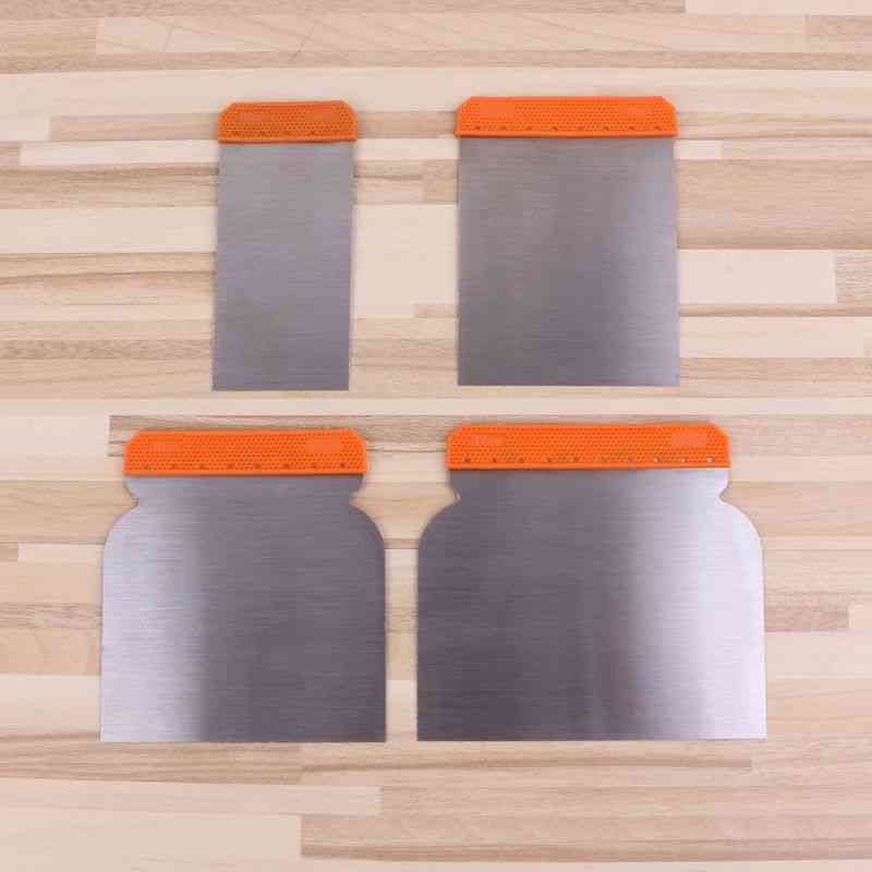 Carbon Steel Putty Knives Kit, Durable Scraper Cleaning Filling Tool, Construction Decoration Tools