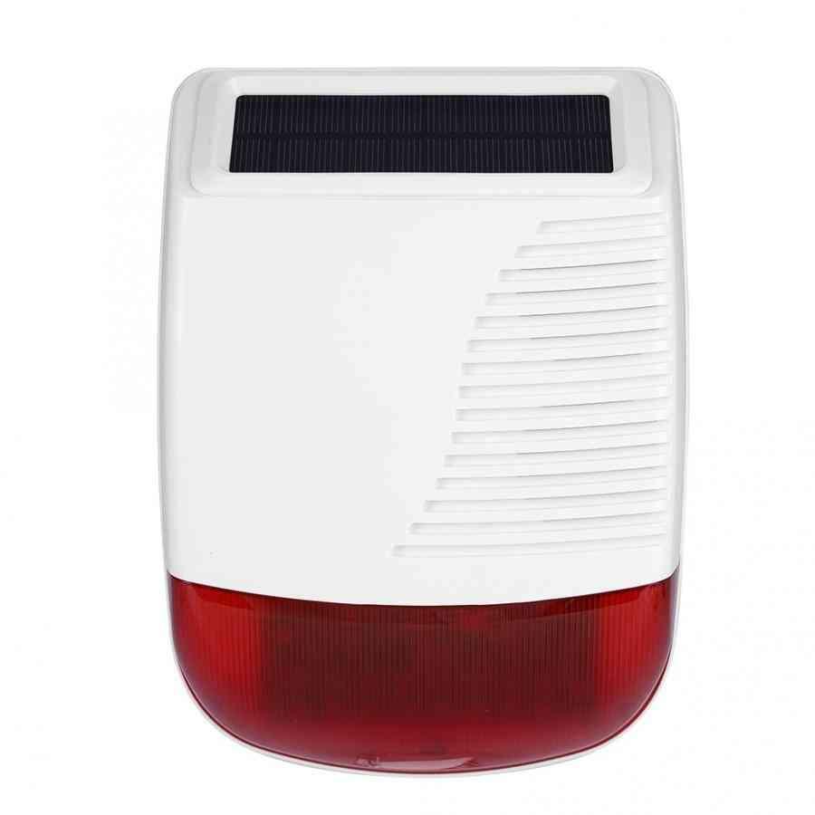 Wireless Outdoor Waterproof Solar Power Light Sound Siren Alarm For Gsm