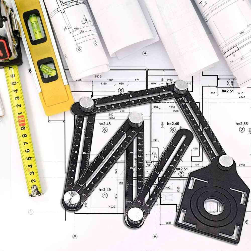 Aluminum Alloy Tile Opening Locator Fold Ruler