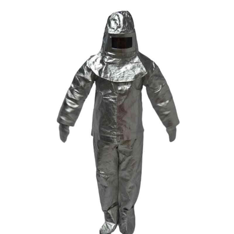 Heat Insulation Retardant Clothing Full Set - Fire Entry Aluminium Foil Proximity Suit