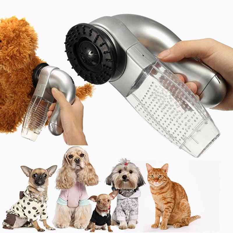 Pet Shed Grooming, Hair Brush Removal, Vacuum Fur Suction Device