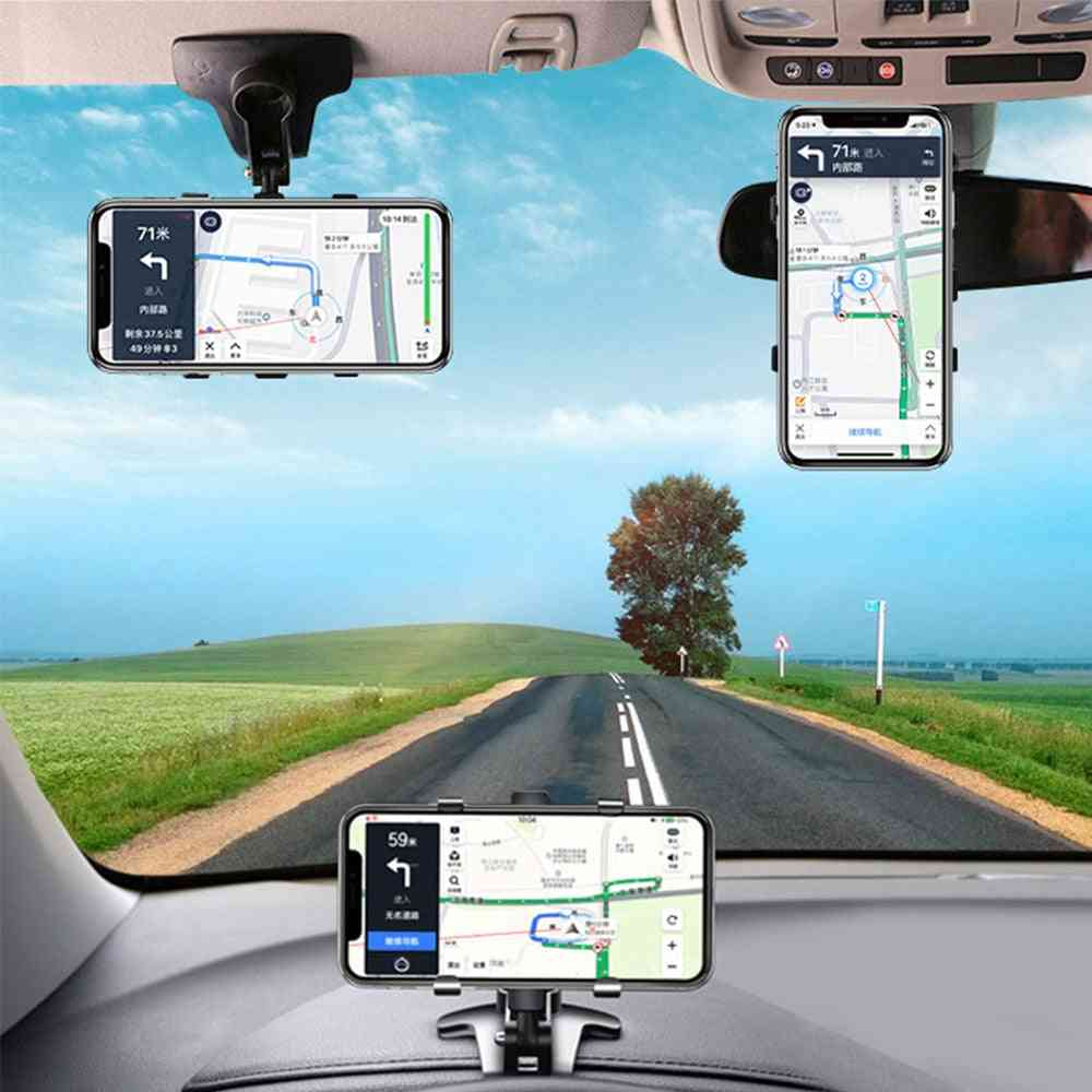 Dashboard Car Phone Holder, Mobile Stands, Rearview Mirror, Navigation Bracket