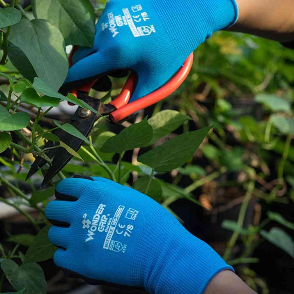 Nylon Nitrile Latex Coated Garden Safety Glove