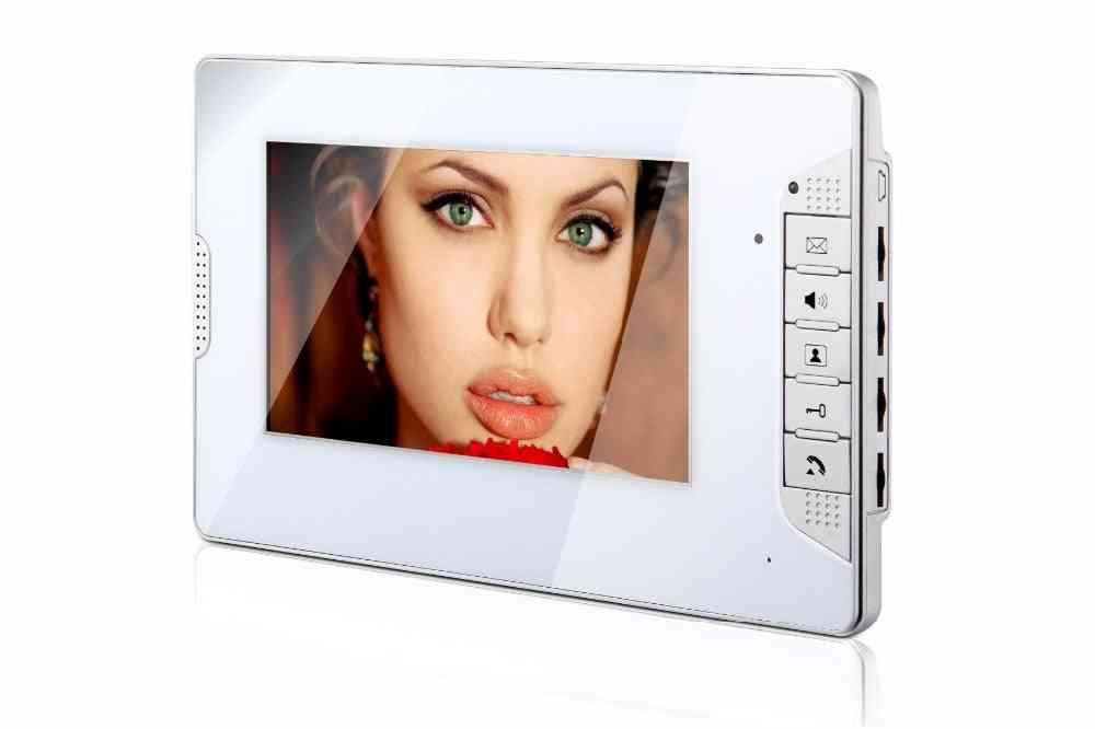Apartment Video Indoor Monitor Unit For Intercom Doorbell Door Phone System