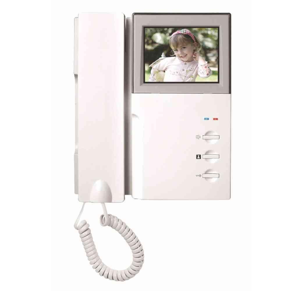 Indoor Monitor Video Intercom Doorbell Door Phone System Audio With Handset