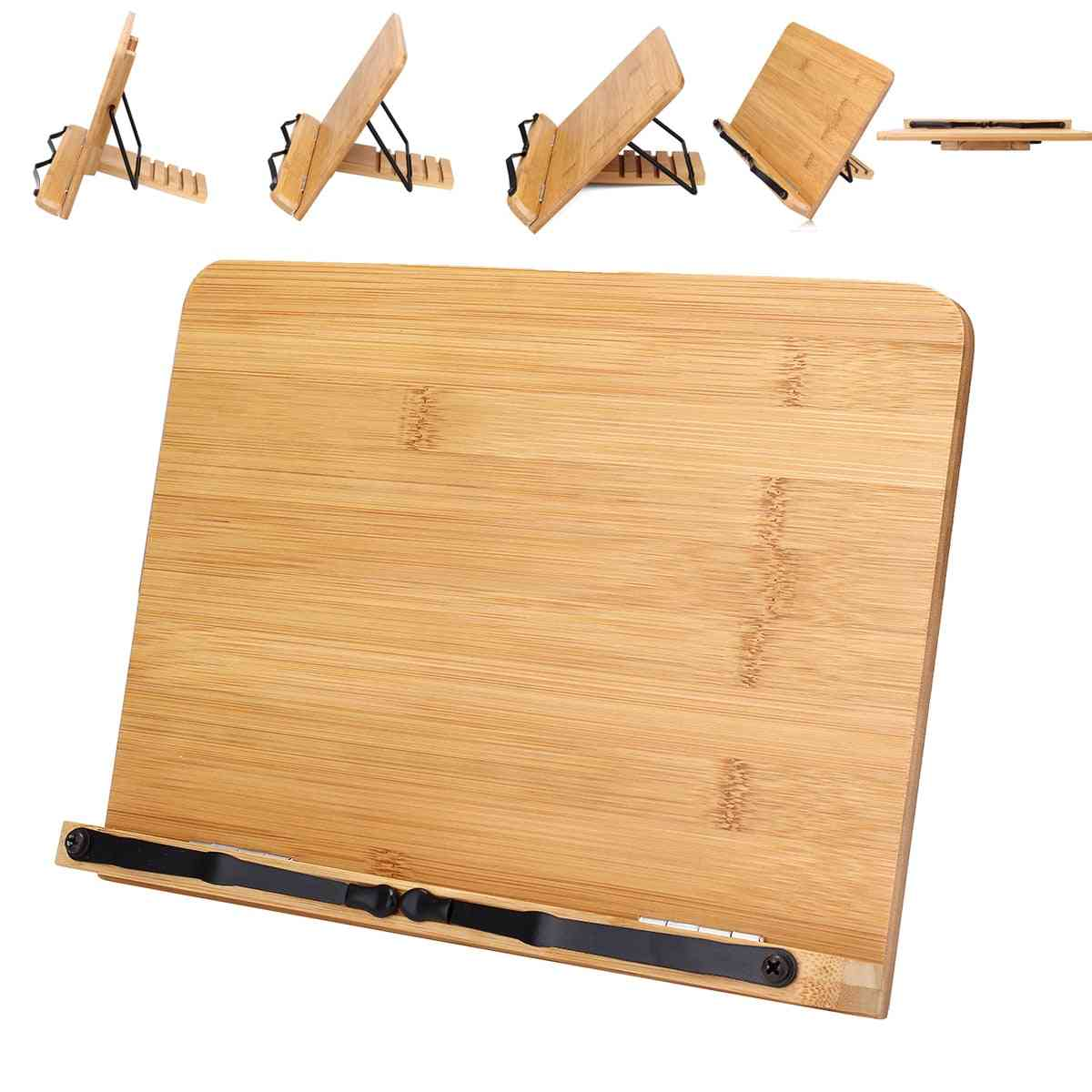 Portable And Adjustable Wooden Book Reading Stand