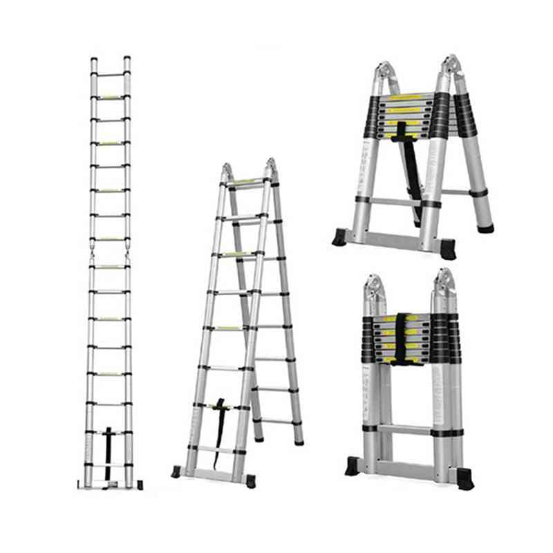 Multifunctional Retractable Telescopic Extension Thick Aluminum Folding Ladders