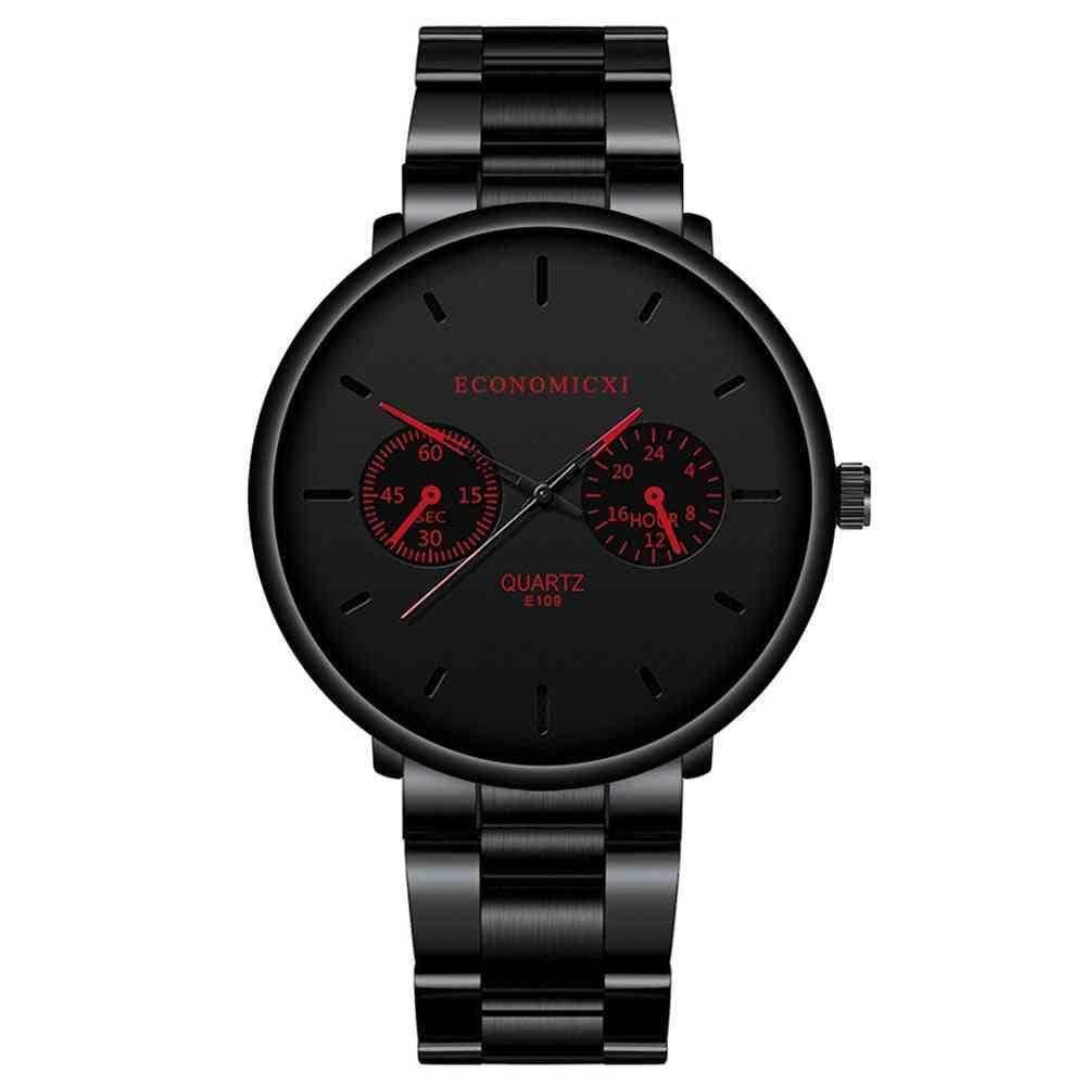 Luxury Quartz Men Watches, Pointer Fashion Stainless Steel Strap Clock