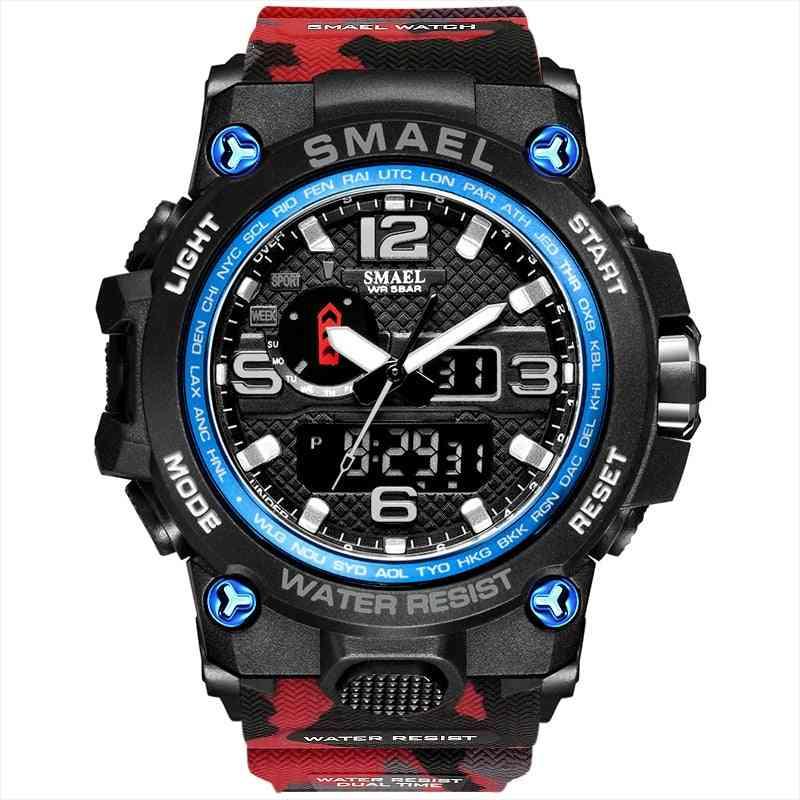 Men Military Watch, Waterproof Sport Led Quartz Clock