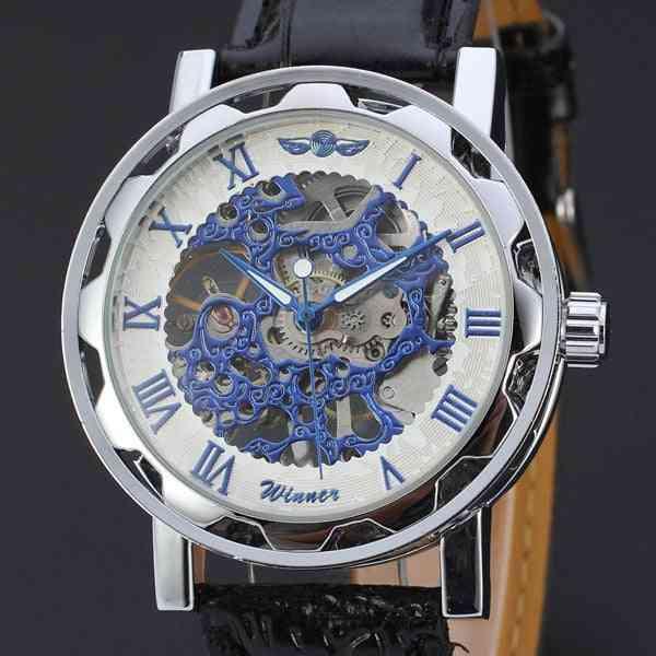Men Luxury Business Leather Strap Wrist Watch