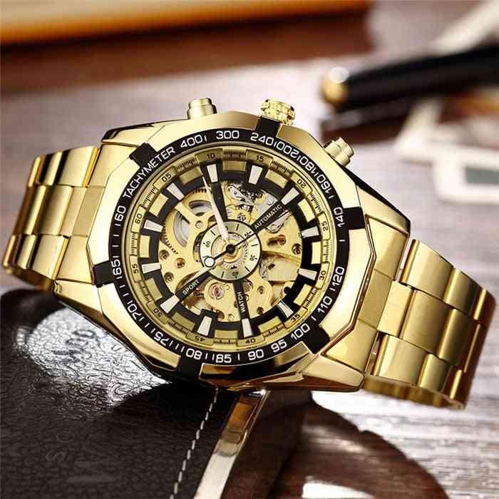 Men Watches, Stainless Steel Bracelet Sports Luxury Clock / Wristwatch