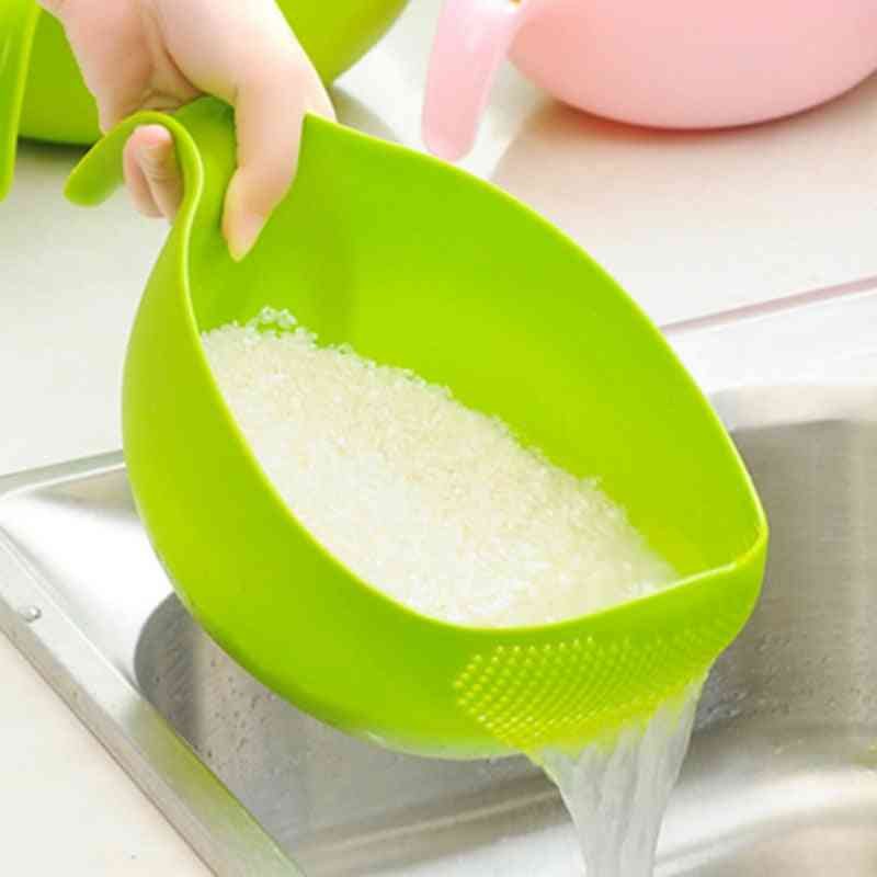 Plastic Rice Beans Peas Washing Filter Strainer, Cleaning Gadget