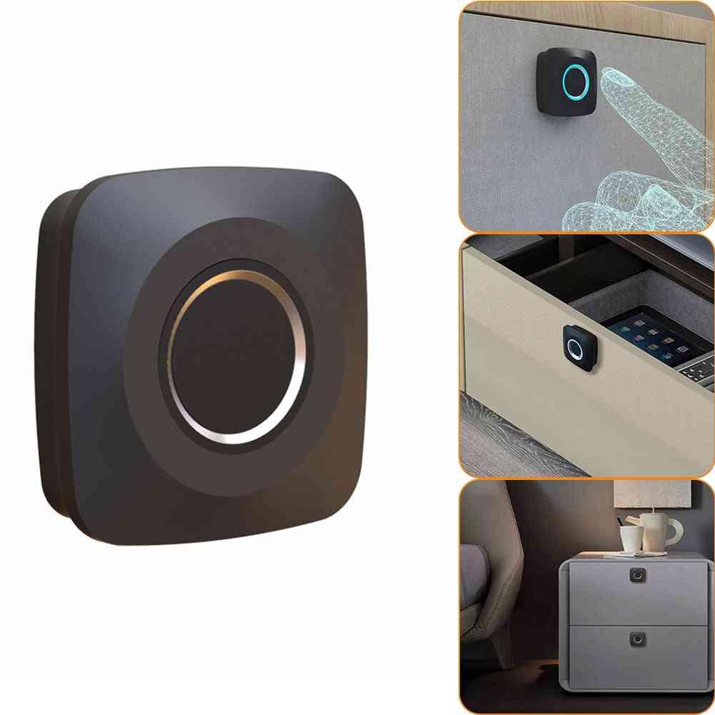 Fingerprint Padlock Battery Powered Keyless Digital Lock For Gym, School, Drawer, Backpack