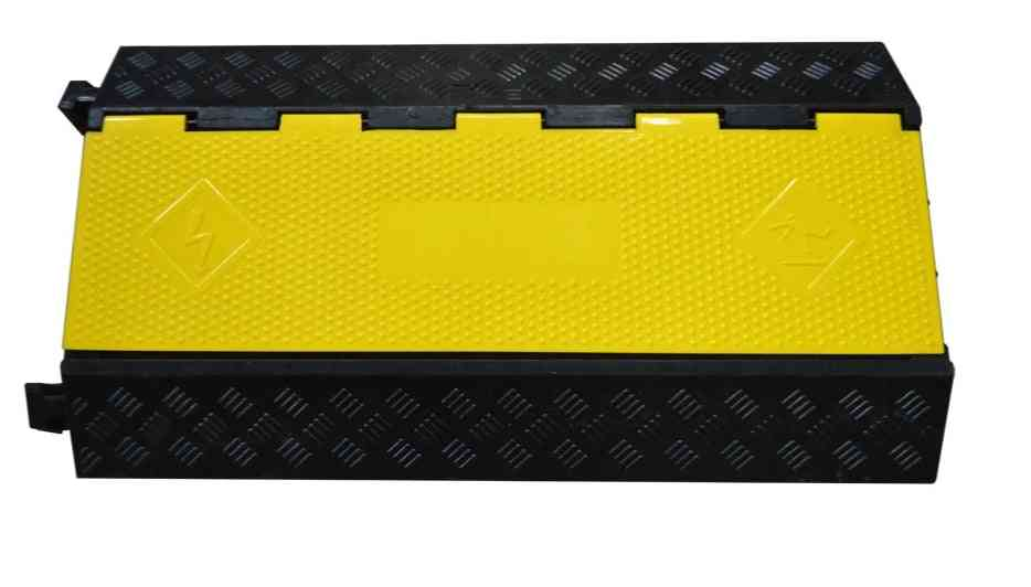 3-channel Rubber Electrical Wire Cover, Protector - 3 Slot Cable Ramp