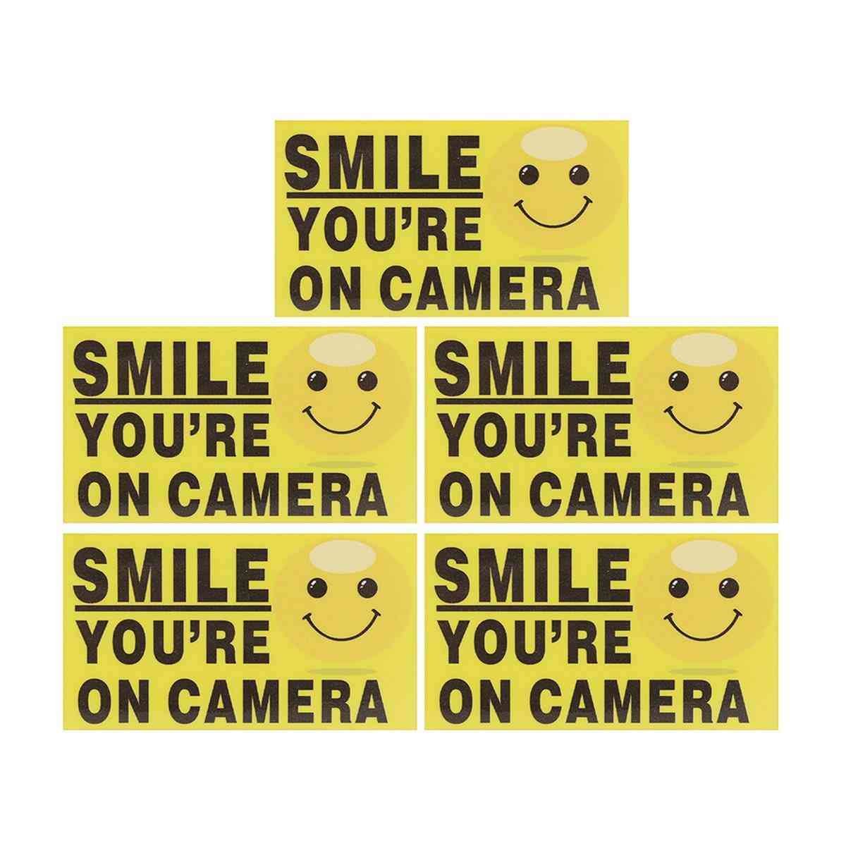 Self-adhensive Cctv Video Alarm Safety Stickers Signs