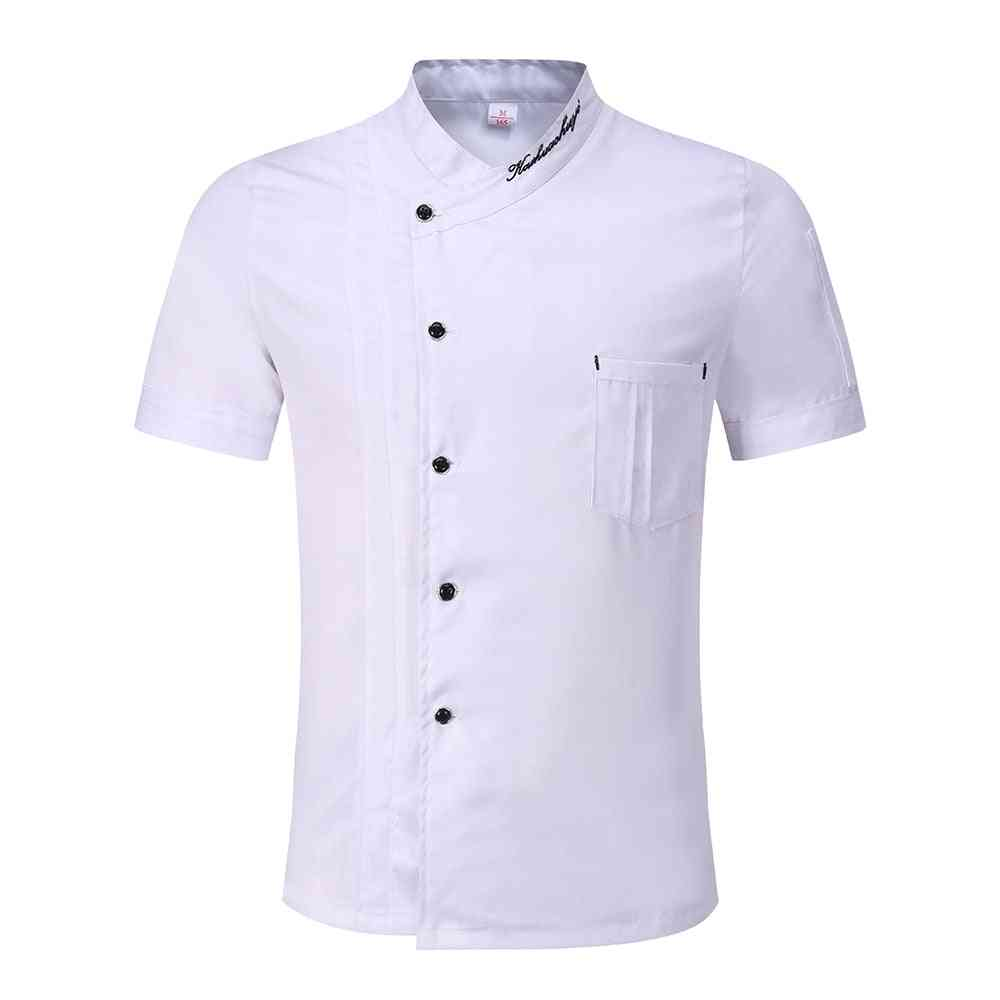 Bakery Food Service Short Sleeve Breathable Double Breasted Catering Chef Jacket