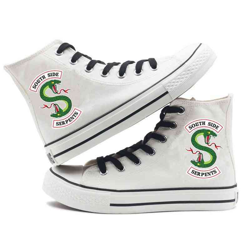 Printed High Canvas Casual Leisure Sneakers Shoes