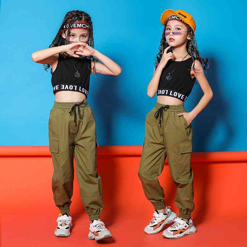 Children Hip-hop Clothing, Casual Pants For Jazz Dancing Clothes Wear