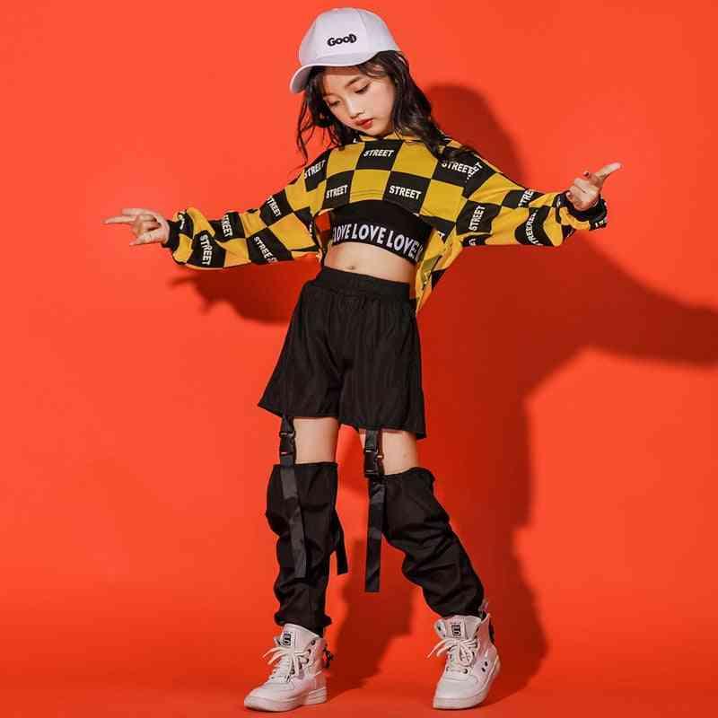 Children/girl Long Sleeve Hip-hop Jazz Dance Ballroom Clothes