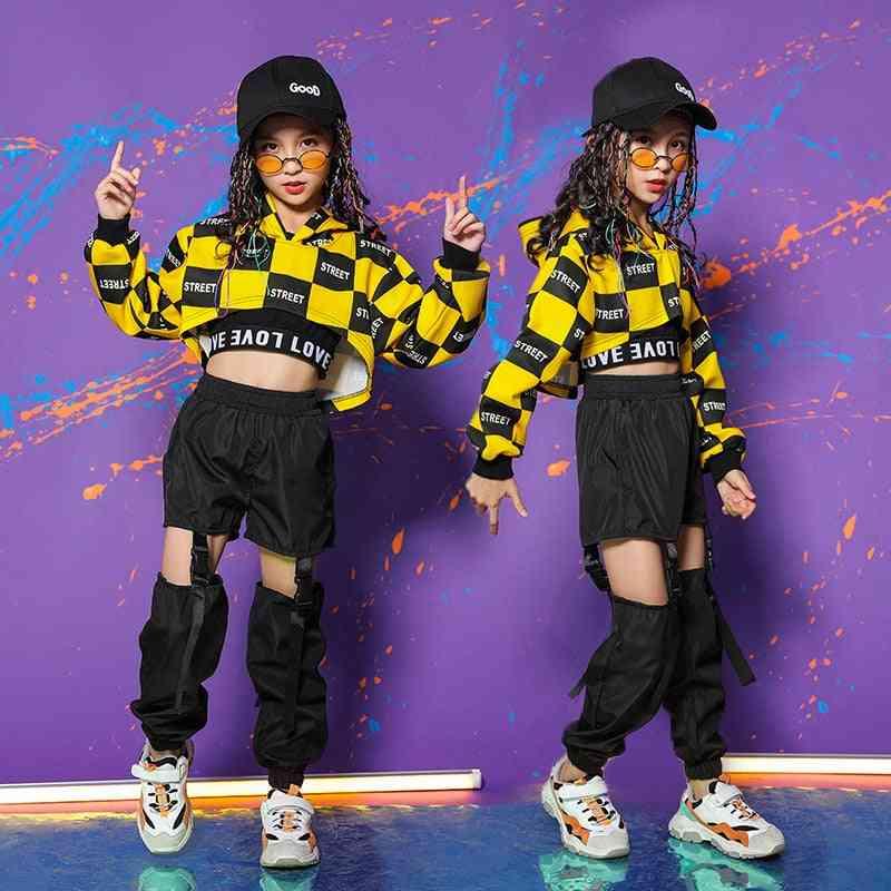 Kid Hip-hop Clothing Hoodie/sweatshirt/shirt, Pants Girl Ballroom Dance Clothes