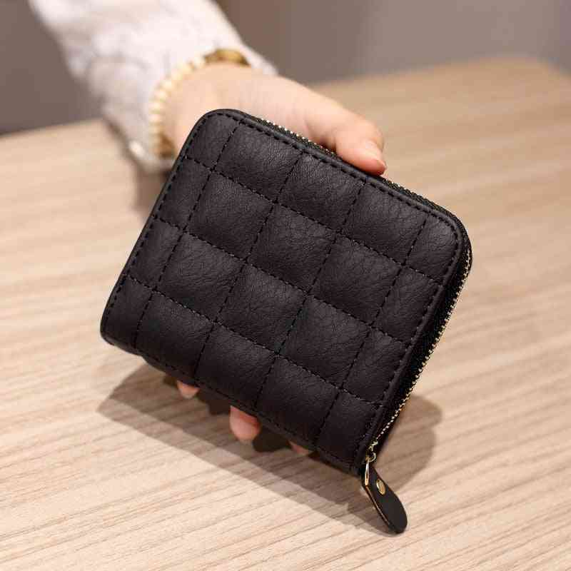 Women Wallets Leather Card Holder, Fashion Small Wallet With Coin Purse