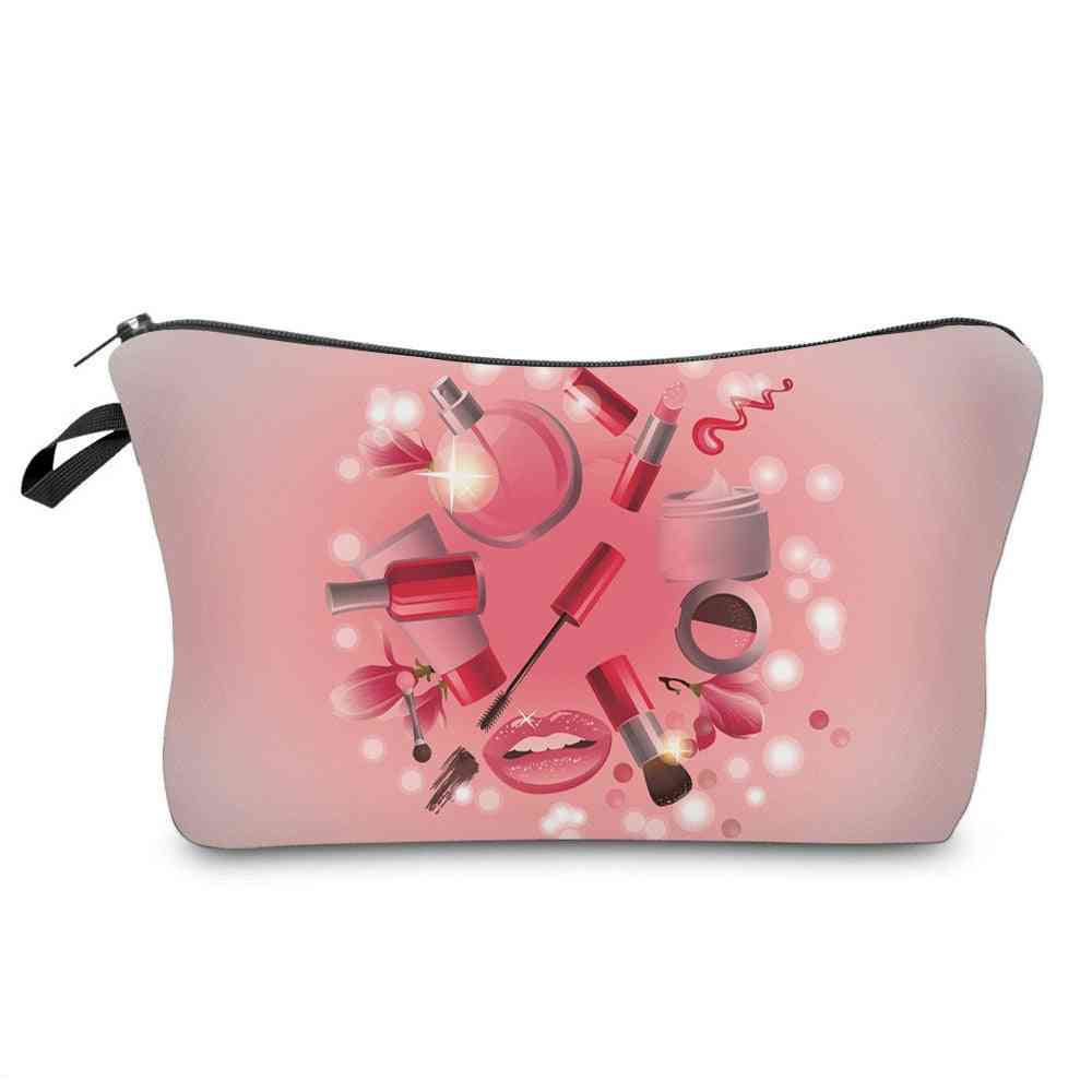 Women Cosmetic Bags, Makeup Pattern Fashion Necessaries For Organizer Toiletry
