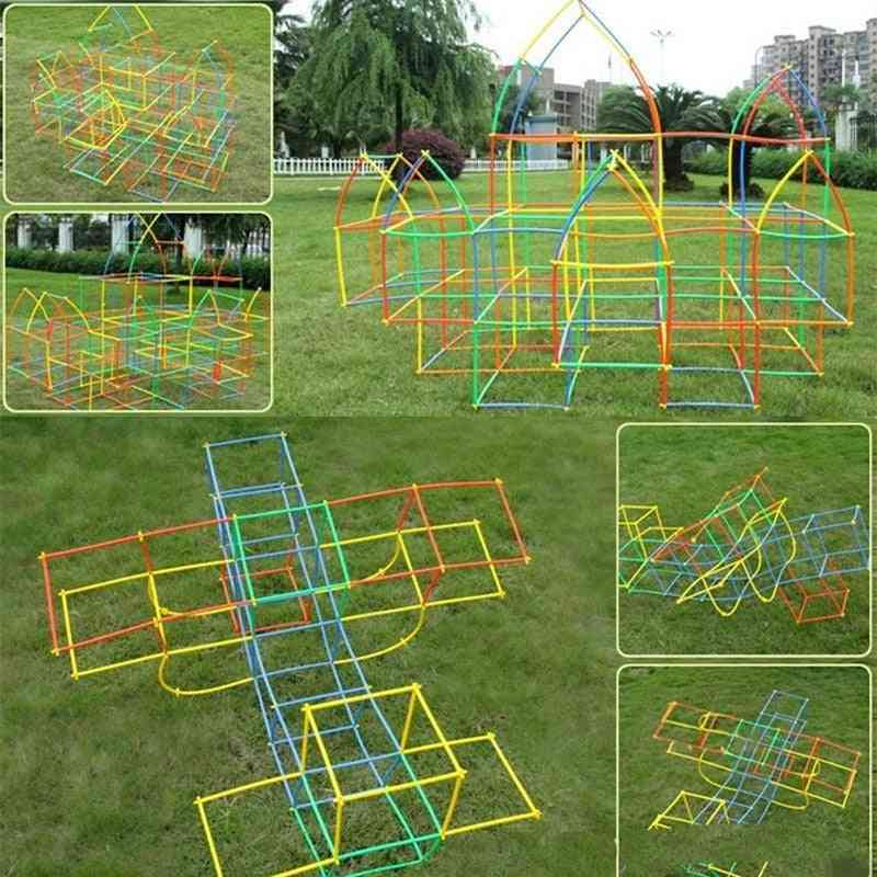 Games Tunnel Building Blocks, Playground Assemble Indoor/ Outdoor, Play Games