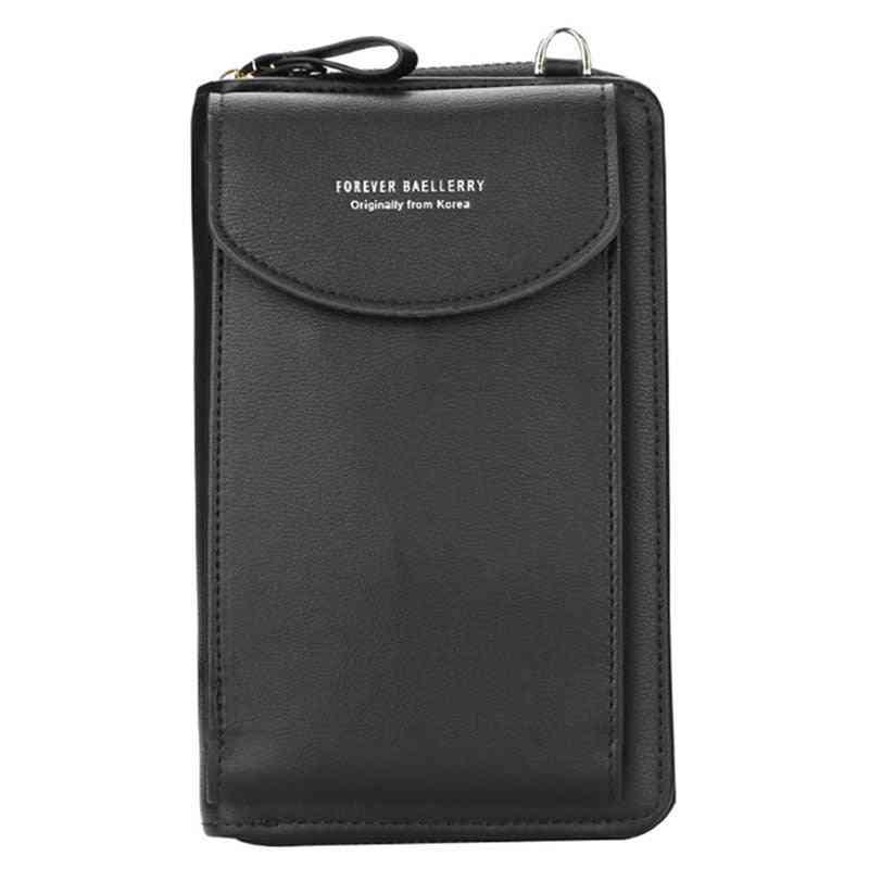 Forever Baellerry Women Wallet Vertical Crossbody Mobile Phone Zipper
