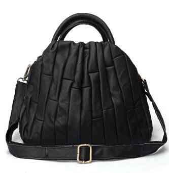 Real Leather Tote Handbag, Patchwork Elegant Crossbody Bags