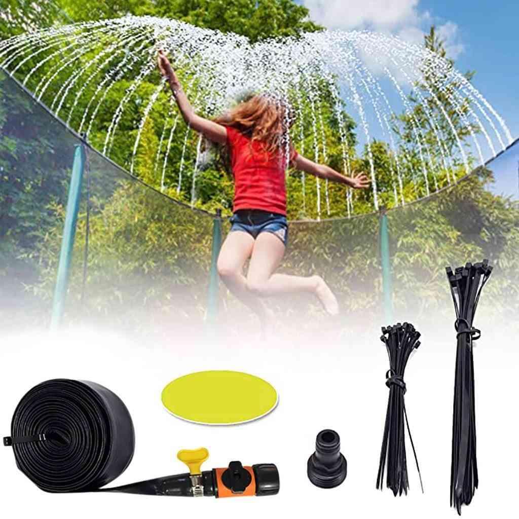 Trampoline Waterpark Sprinkler Outdoor Summer For Outside Fun Backyard