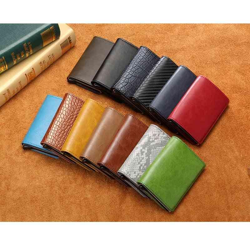 Business Id / Credit Card Holder Men & Women Leather Wallet