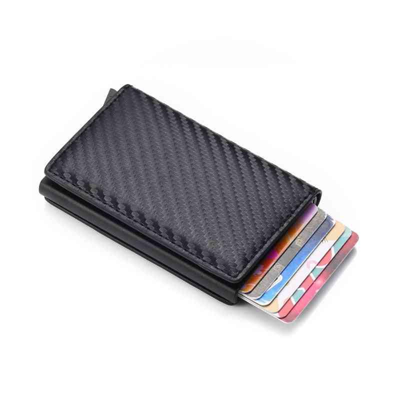 Men Leather Slim Mini Wallet, Small Money Bag / Purses